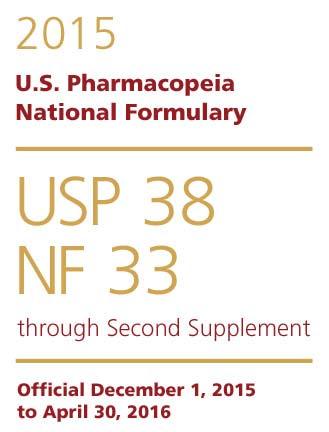 فارماکوپه آمریکا USP38-NF33 2015